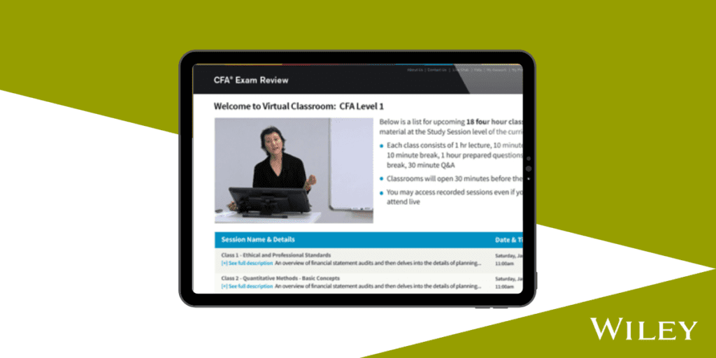 Wiley CFA Live Online and Video Lessons