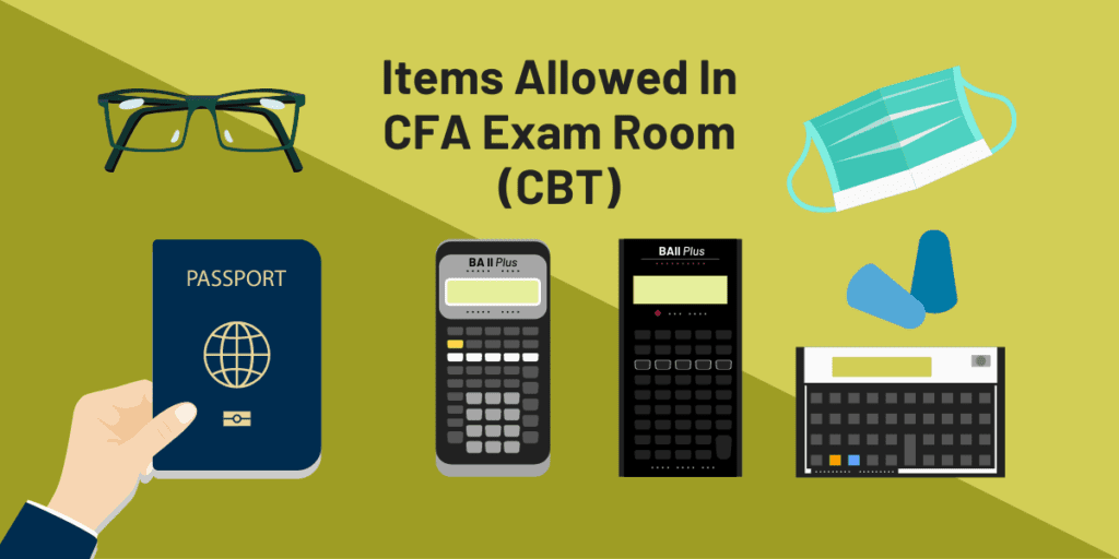 CFA exam day items allowed in the exam room