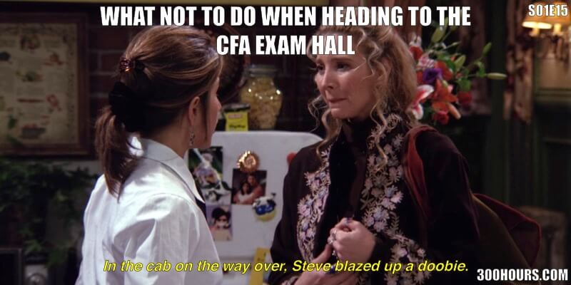 CFA Friends Meme: What not to do for the CFA exams