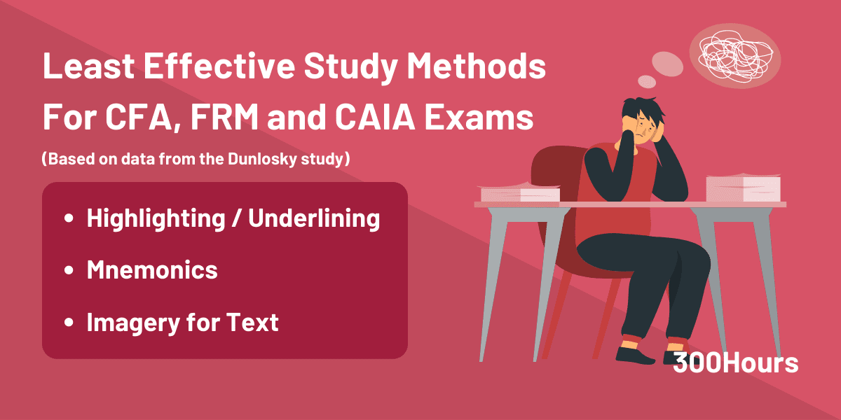 Highlighting, Mnemonics and Imagery Are The ​Least Effective Study Techniques for CFA Exams
