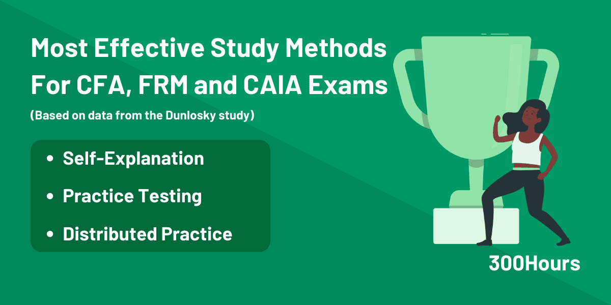 Most Effective Study Methods for CFA, FRM and CAIA Exams Based on Dunlosky Study