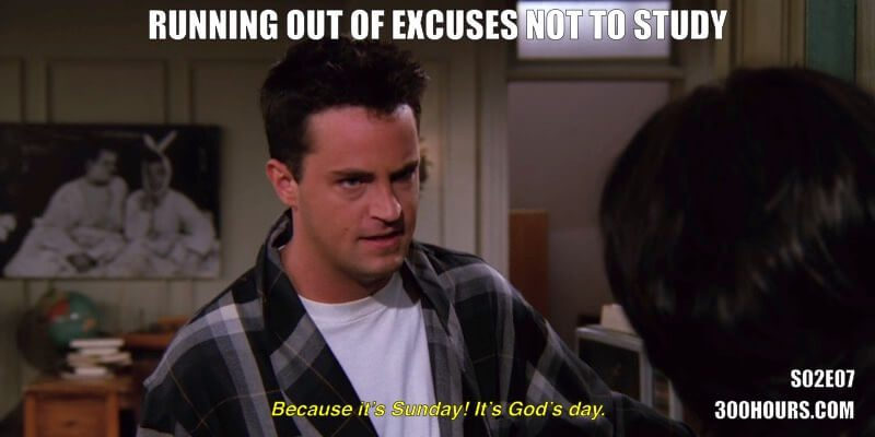 CFA Friends Memes: Excuses not to study