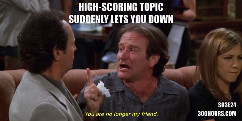 CFA Friends Meme: High-scoring topic suddenly lets you down